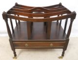 Mahogany Canterbury Magazine Stand in Antique Regency Style